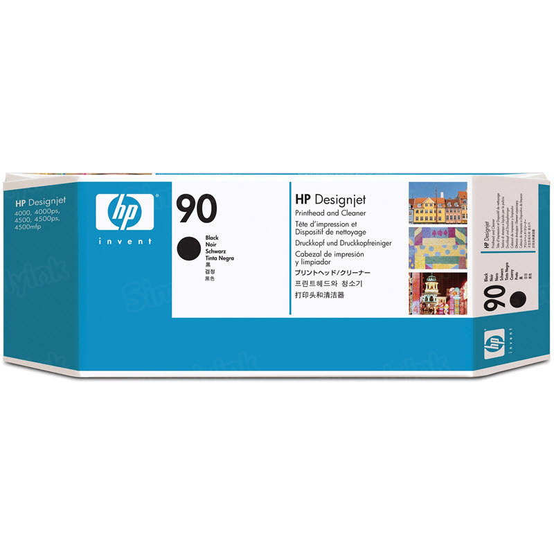 HP 90 Black Original Printhead & Cleaner C5054A