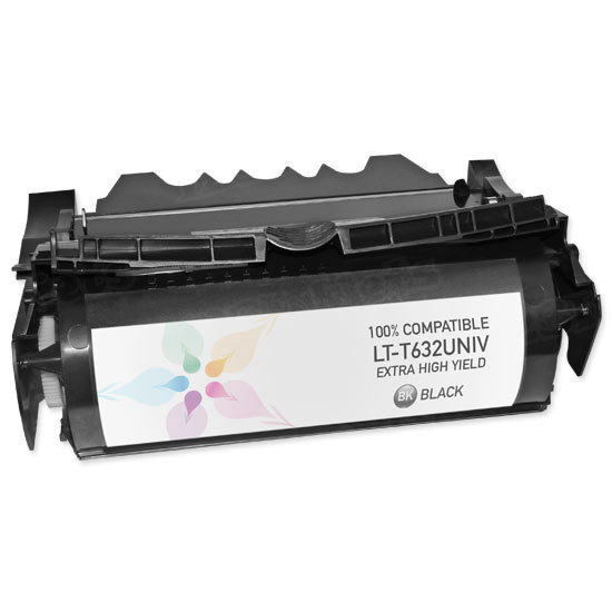 Remanufactured 12A7460 / 12A7465 EHY Black Toner Cartridge for the Lexmark Optra T632 & T634