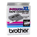 Brother TX1251 3/8 White on Clear OEM Tape