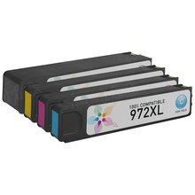Compatible Brand Replacements for HP 972XL Ink Cartridges: 4-Piece High Yield Set for HP