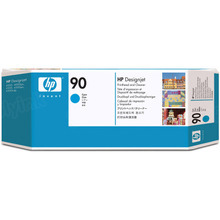 Original HP 90 Cyan Printhead & Cleaner in Retail Packaging (C5055A)