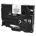 Compatible Replacement for Brother TZe111 Black on Clear Tape for Brother P-Touch