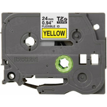Brother TZeFX651 Black on Yellow OEM 1 Label Tape