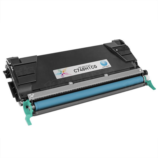 Remanufactured C748H1CG HY Cyan Toner Cartridge for Lexmark