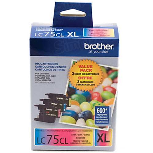 Brother OEM LC753PKS C/M/Y High-Yield Ink Cartridges, 3 Pack