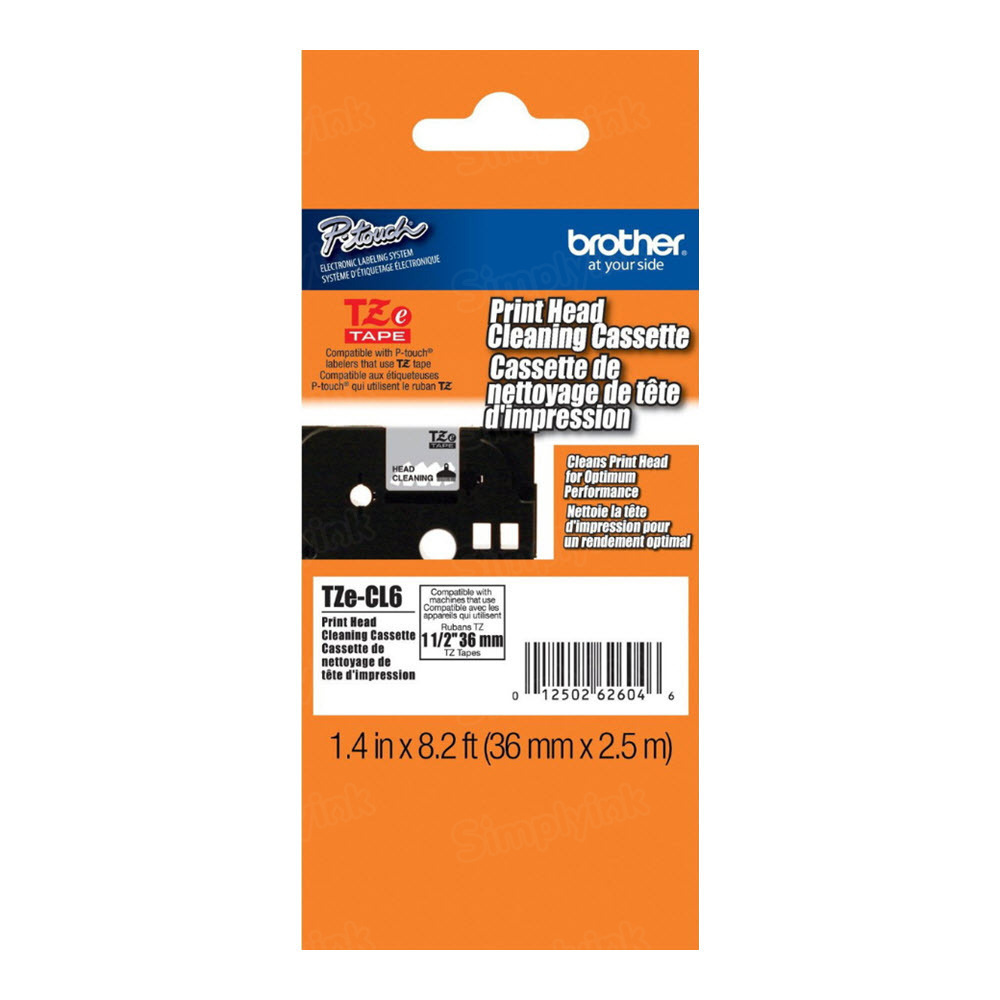 Brother TZECL6 11/2 Cleaning Tape OEM Tape
