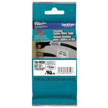 Brother TZeFX251 Black on White OEM 1 Label Tape