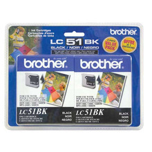 Brother LC512PKS Black OEM Ink Cartridges, 2 Pack