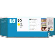 Original HP 90 Yellow Printhead & Cleaner in Retail Packaging (C5057A)