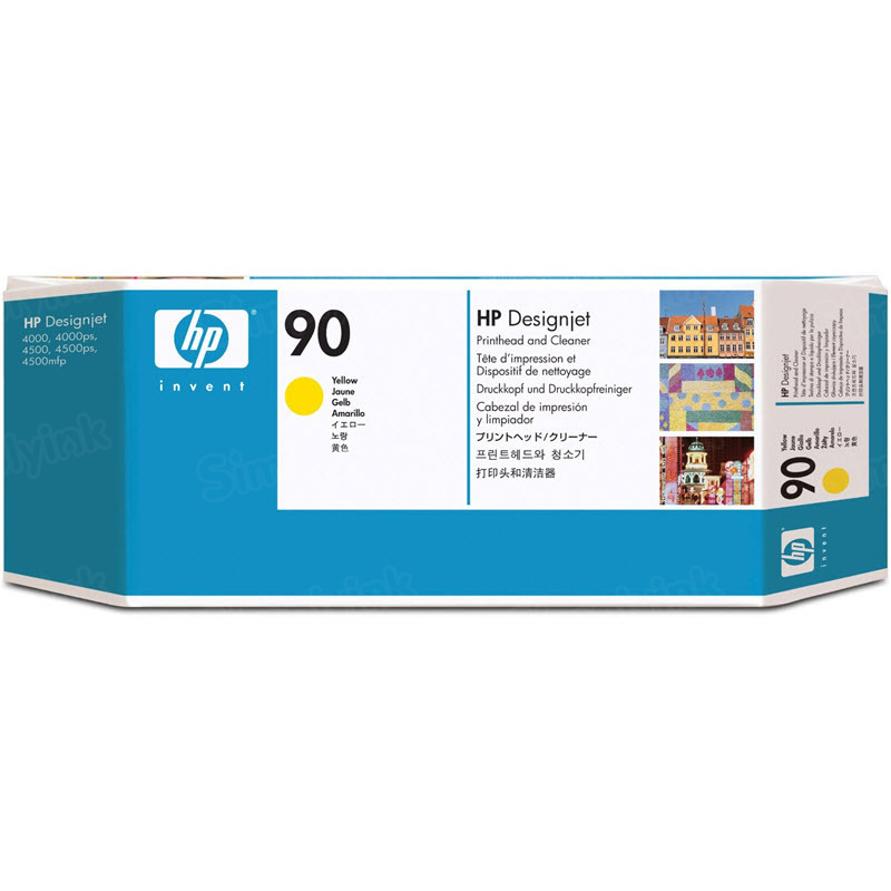 HP 90 Yellow Original Printhead & Cleaner C5057A