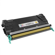 Lexmark Remanufactured High Yield Yellow Laser Toner Cartridge, C748H1YG (C748 Series) (10K Page Yield)