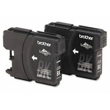 Brother LC652PKS Black OEM Ink Cartridges, High-Yield 2 Pack