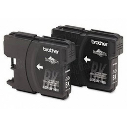 Brother OEM LC652PKS Black High-Yield Ink Cartridges, 2 Pack