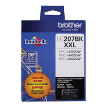 Genuine LC2072PKS Super High Yield Black Ink Cartridge for Brother 2-Pack