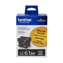 OEM LC612PKS Black Ink Cartridge for Brother 2-Pack