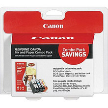 Canon BCI-3e / BCI-6 OEM Ink Cartridge Color 4-Pack, 4479A292