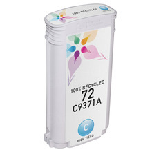 Remanufactured Replacement Ink Cartridge for Hewlett Packard C9371A (HP 72) High-Yield Cyan