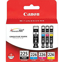 Canon PGI-225 / CLI-226 OEM Ink Cartridge Color 4-Pack, 4530B008