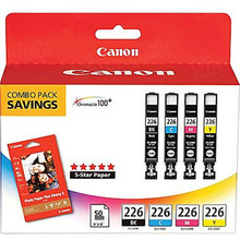 Canon CLI-226 OEM Ink Cartridge Color 4-Pack, 4546B007