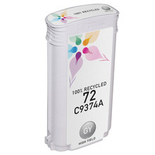 Remanufactured Replacement Ink Cartridge for Hewlett Packard C9374A (HP 72) High-Yield Gray