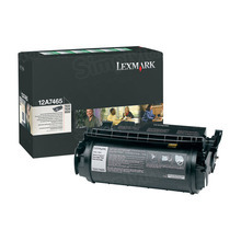 Lexmark OEM Extra High Yield Black Return Program Laser Toner Cartridge, 12A7465 (32K Page Yield)