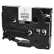 Compatible Brother TZe211 Black on White Tape for P-Touch Label Printers - 0.23 in x 26.2 ft (6 mm x 8 m)