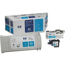 Original HP 83 Cyan Ink Cartridge, Printhead & Cleaner in Retail Packaging (C5001A) High-Yield