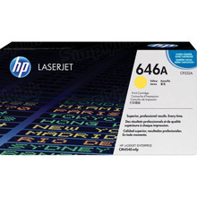HP 646A (CF032A) Yellow Original Toner Cartridge in Retail Packaging