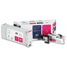 Original HP 83 Magenta Ink Cartridge, Printhead & Cleaner in Retail Packaging (C5002A) High-Yield
