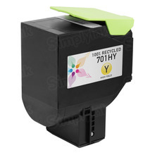 Lexmark Remanufactured High Yield Yellow Laser Toner Cartridge, 70C1HY0 (CS310/CS410/CS510 Series) (3K Page Yield)