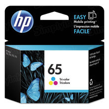 Original HP 65 Tri-Color Ink Cartridge in Retail Packaging (N9K01AN)