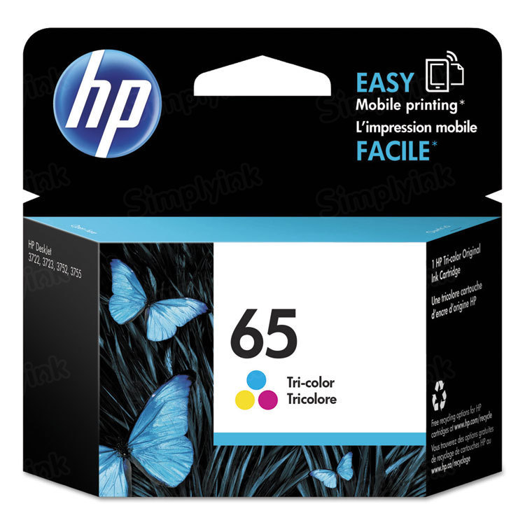 HP 65 Tri-Color Original Ink Cartridge N9K01AN