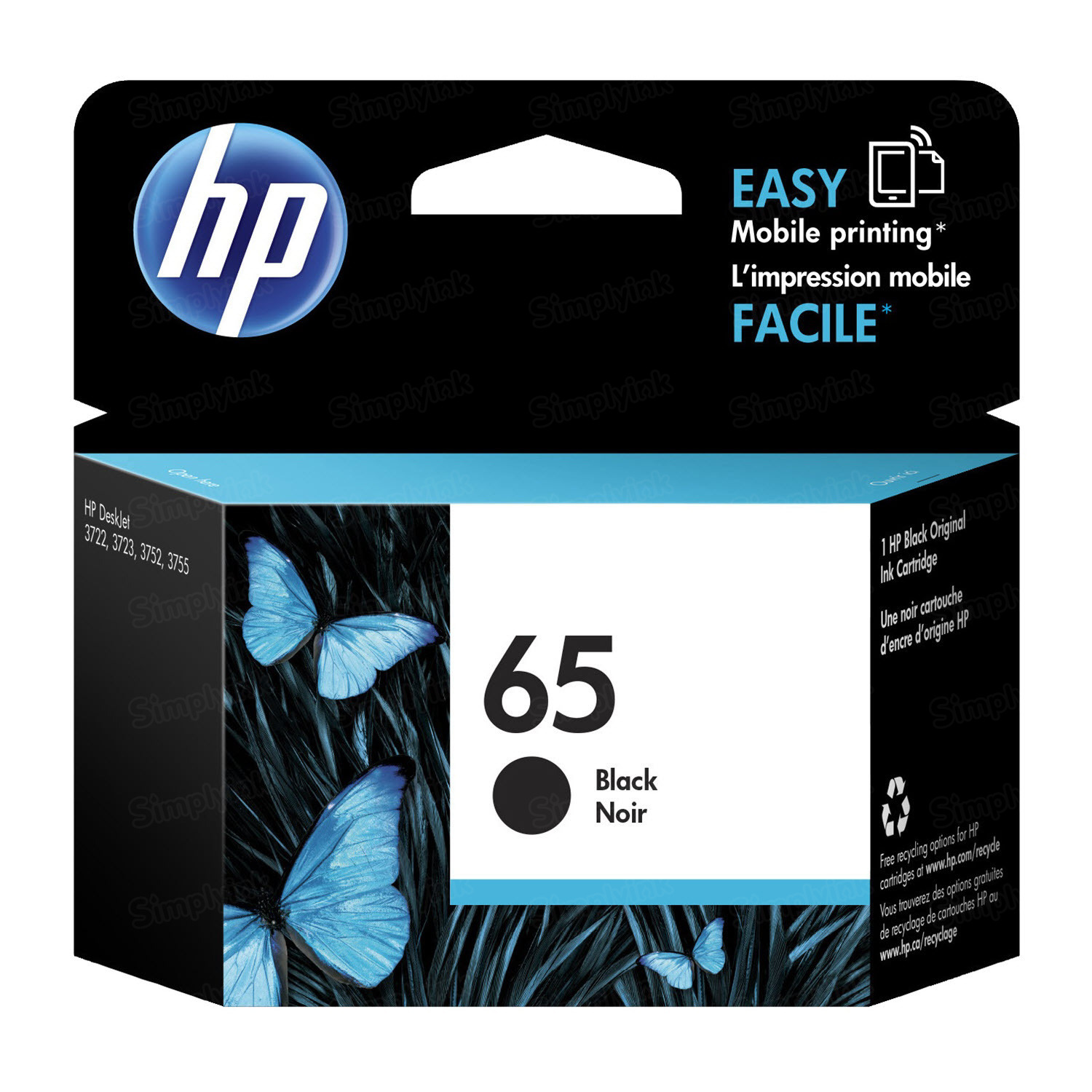 HP 65 Black Original Ink Cartridge N9K02AN