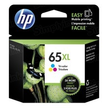 Original HP 65XL High Yield Tri-Color Ink Cartridge in Retail Packaging (N9K03AN)