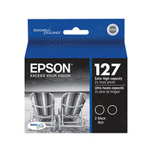 Original Epson 127 Set of Black Ink Cartridges (T127120D2)