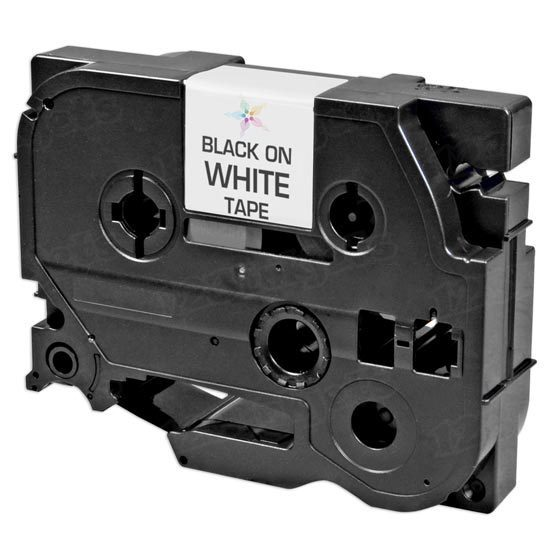 Compatible Replacement for Brother TZe241 Black on White Tape for Brother P-Touch