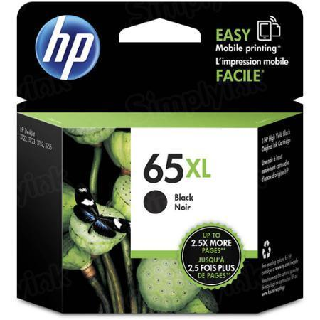 HP 65XL High Yield Black Original Ink Cartridge N9K04AN