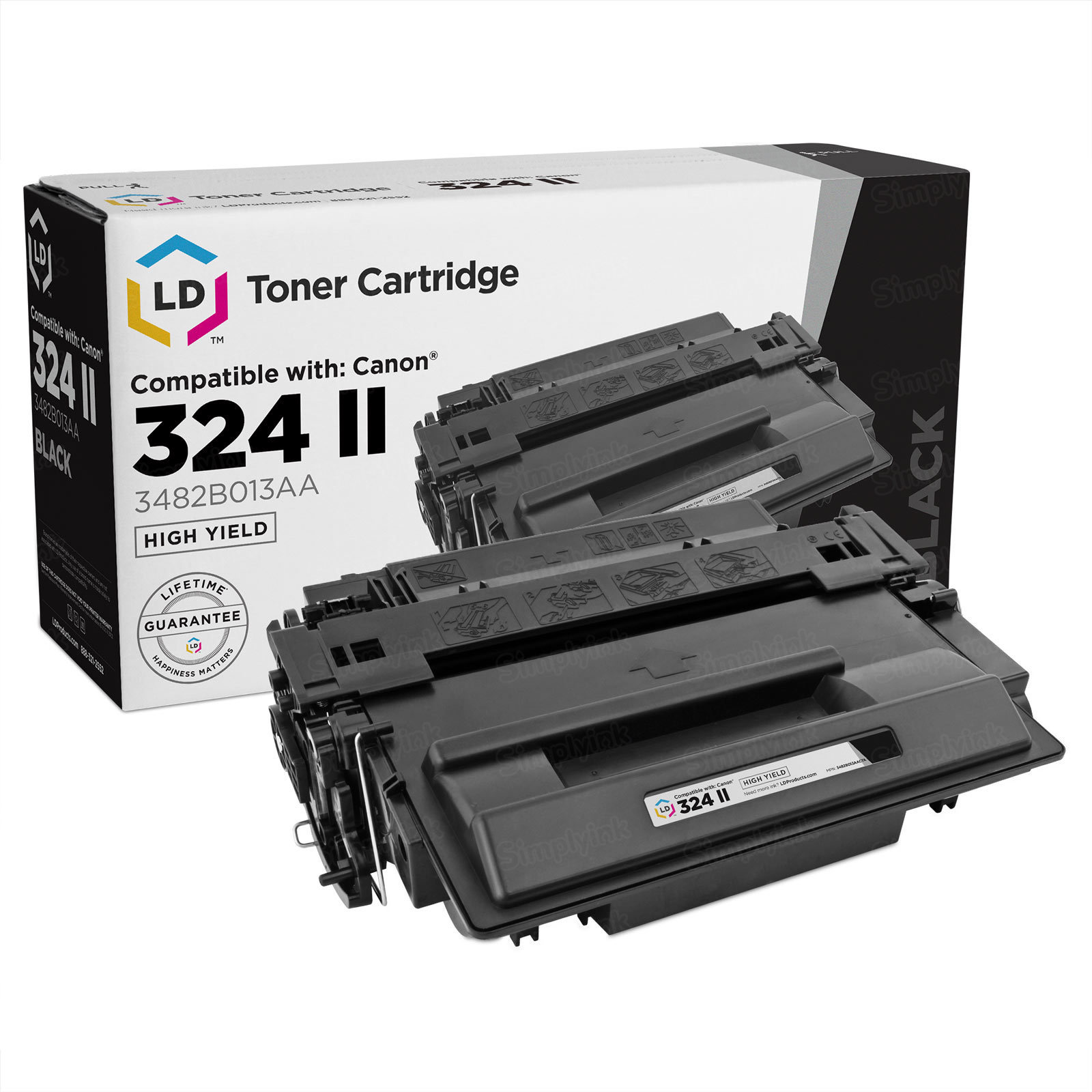 Compatible 324 II HY Black Toner for Canon