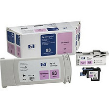 Original HP 83 Light Magenta Ink Cartridge, Printhead & Cleaner in Retail Packaging (C5005A) High-Yield