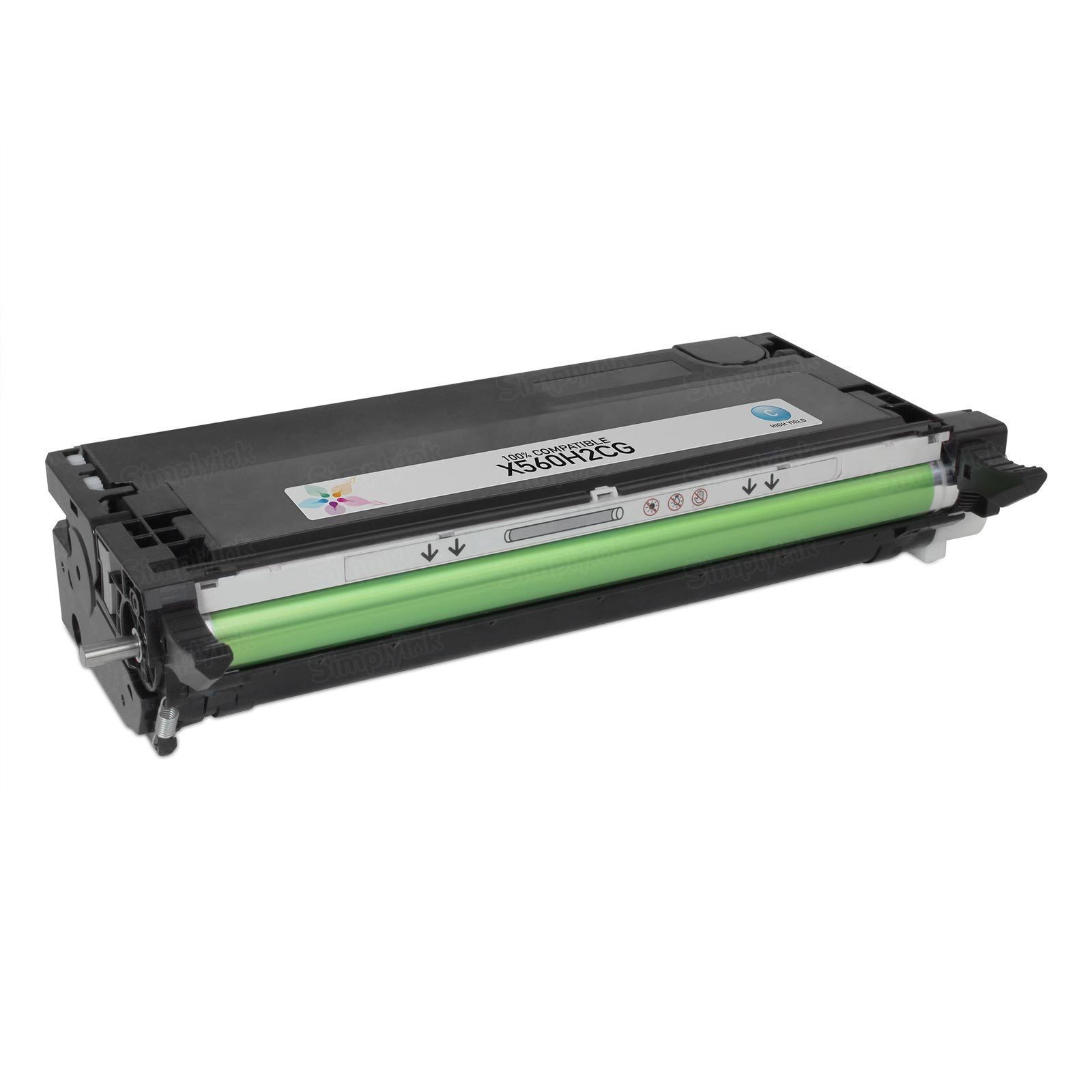 Compatible X560H2CG HY Cyan Toner Cartridge for Lexmark X560