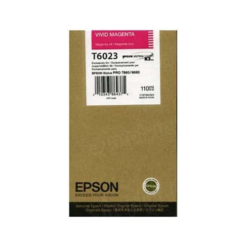 OEM Epson T602300 Vivid Magenta Ink Cartridge