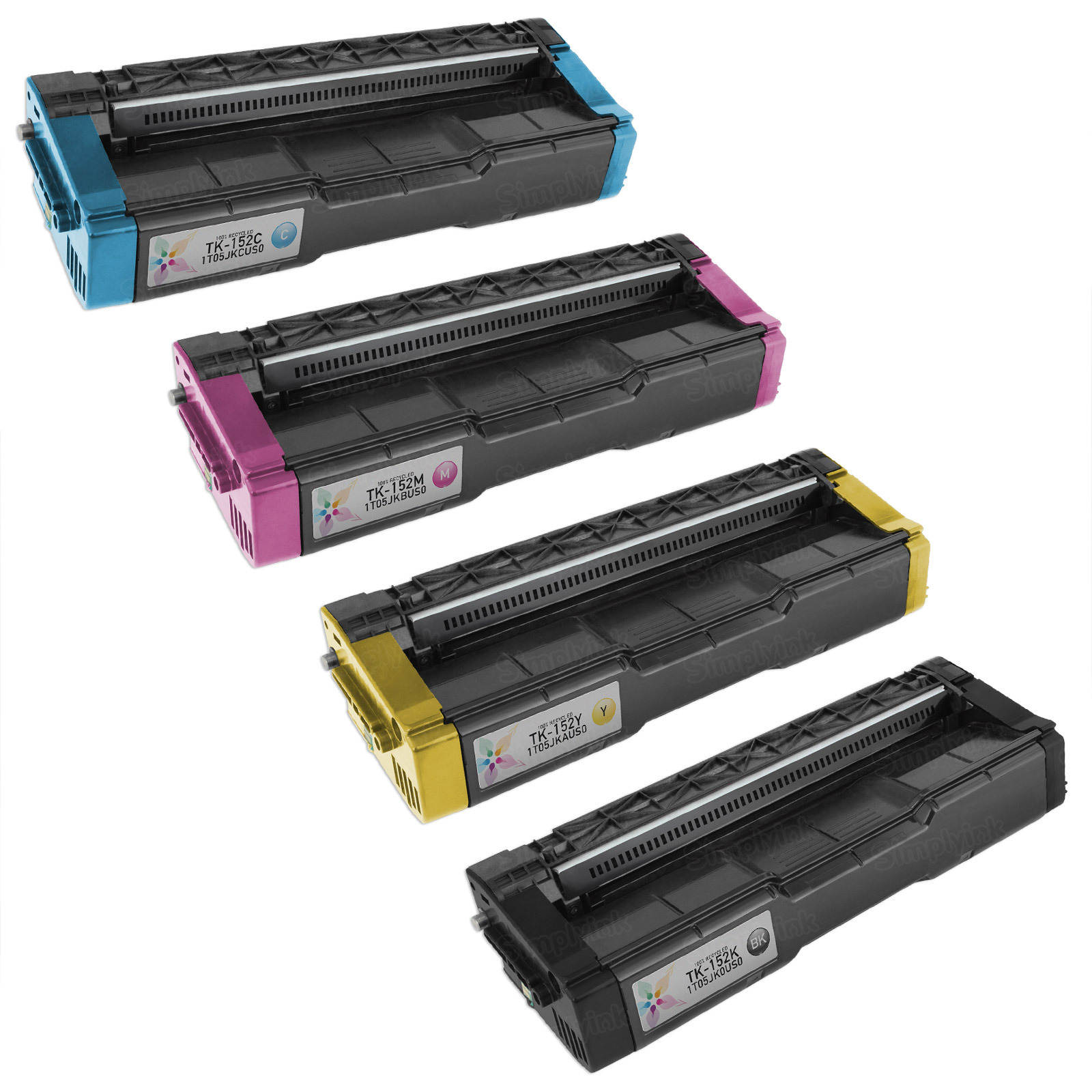 Kyocera Remanufactured TK-152 Set of 4 Toners: Bk, C, M, Y
