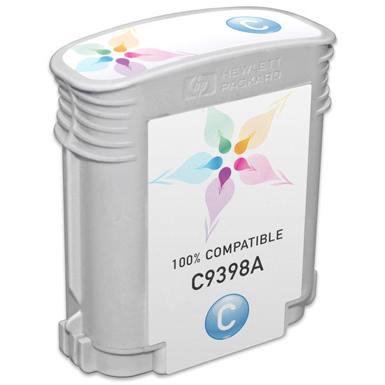 Remanufactured Replacement Cyan Ink for HP 72