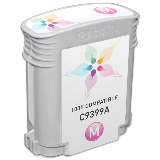 Remanufactured Replacement Magenta Ink for HP 72