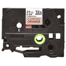 Brother TZeB51 Black on Fluorescent Orange OEM 1 Label Tape