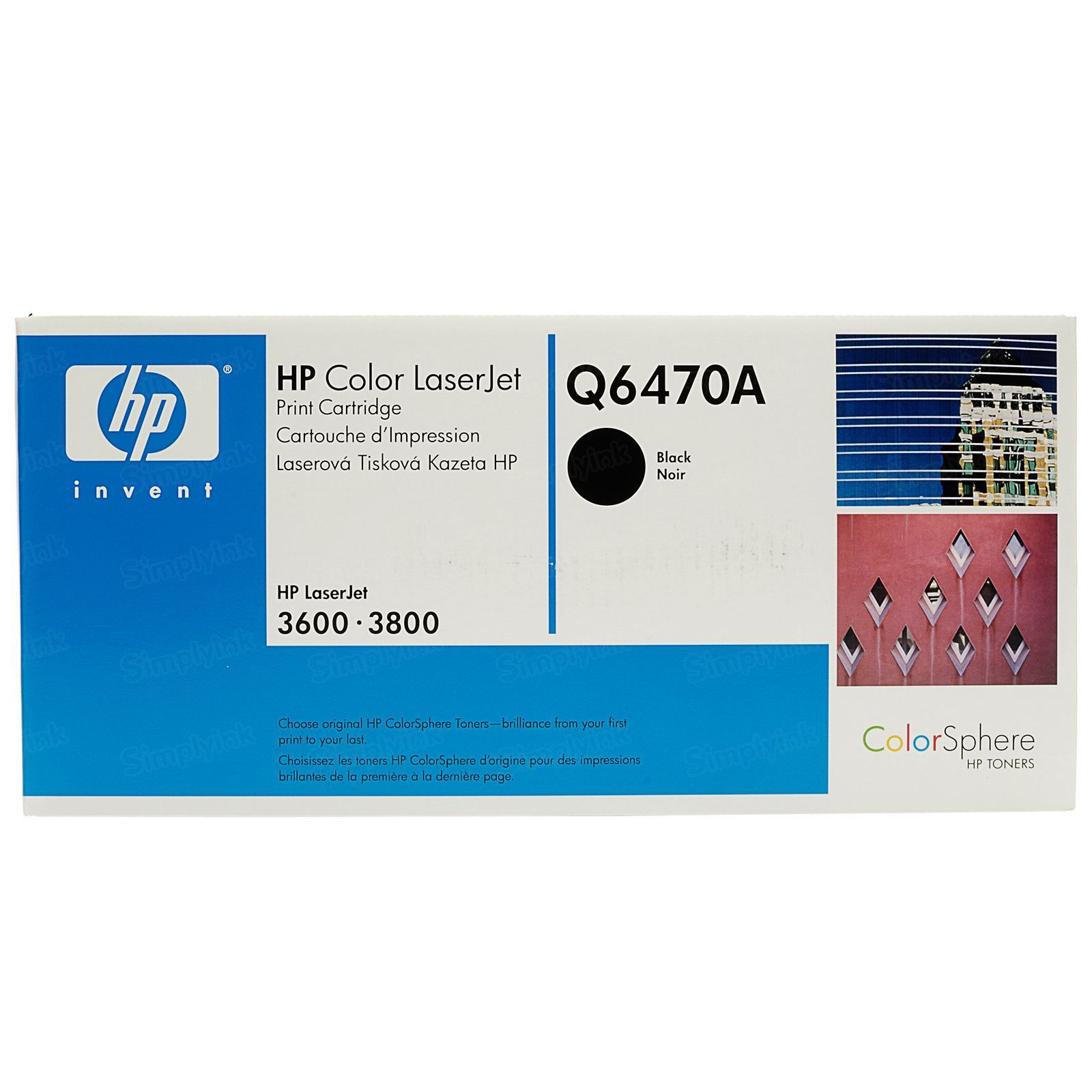 Original HP Q6470A (501A) Black Toner