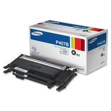 OEM Samsung CLT-P407B Black Laser Toner Cartridge 2-Pack