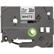 Brother TZeAF231 Black on White OEM 1/2 Label Tape