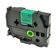 Brother TZe741 Black on Green OEM 3/4 Label Tape