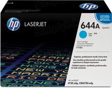 HP 644A (Q6461A) Cyan Original Toner Cartridge in Retail Packaging
